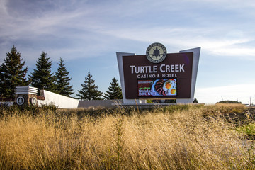 Traverse City, Michigan, USA - October 3, 2017: The Turtle Creek Casino is owned by the Grand Traverse Band of Ottawa and Chippewa Indians