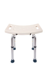 Adjustable Bath and Shower Safety  Chair for Elderly Isolated on White