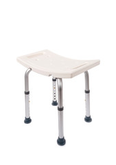 Adjustable Bath and Shower Safety  Chair for Elderly and Disabled Isolated on White