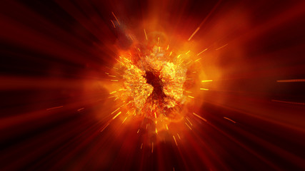 explosion fire abstract background texture Fototapete