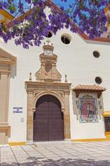 Fotomurales - MALAGA, SPAIN - MAY 25, 2015: The church Parroquia de San Pedro (St. Peters church).