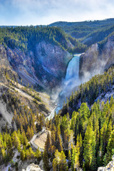 Lower Waterfall at Grand Canyon of Yellowstone National Park
