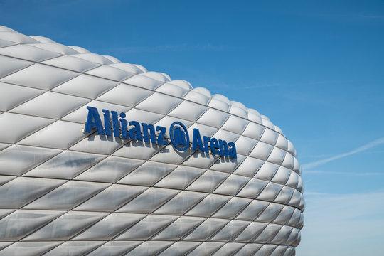 Exterior  view of Allianz Arena in Munich