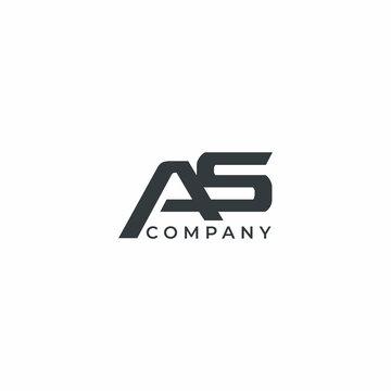 Letter AS Modern Company Logo Design Vector Template