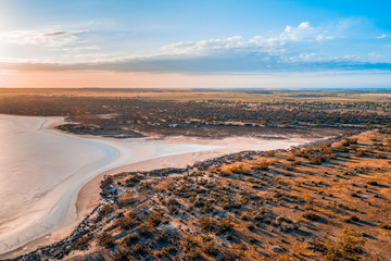 Australian desert at sunrise - Murray-Sunset National Park, Victoria, Australia