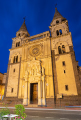 Fotomurales - Acireale - The Duomo (Maria Santissima Annunziata) at dusk.