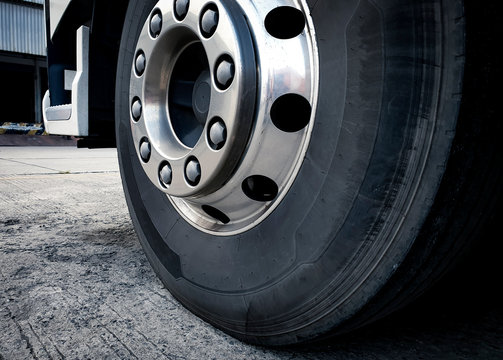 close up truck wheels