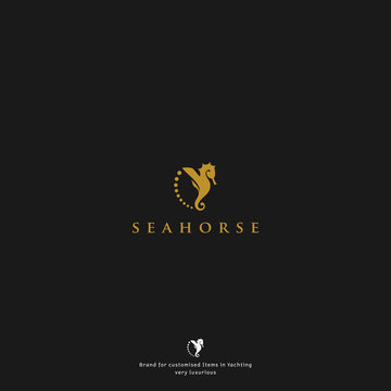 luxury seahorse logo for your company