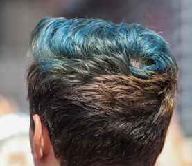 Door stickers Hair Salon Iroquois hairstyle on a man's head