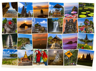 Fotobehang Graffiti collage Bali Indonesia travel images (my photos)