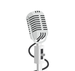 old microphone graphic style vector