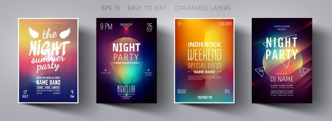 Party poster. Minimal background.  Mesh Gradient. Template design.  Party invitation. Minimal design. Vector background. Gradient vector. Poster design. Party flyer. Mesh background. Minimal style