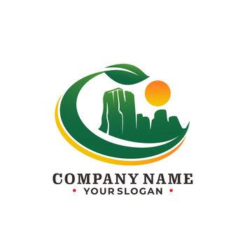 Mountain and Sunshine logo concept