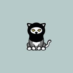 Canvas Prints Owls cartoon cute cat logo vector icon illustration template