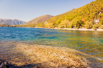 Lake Scanno in Abruzzo in L'Aquila, a beautiful landscape