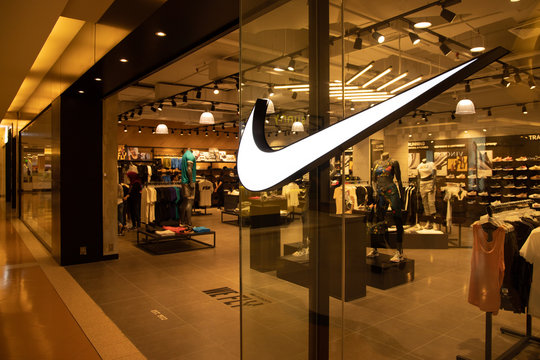 KUALA LUMPUR, MALAYSIA, April 18, 2019:  Nike, Inc. is an American multinational corporation that  markets footwear, apparel, equipment, accessories, and services worldwide.