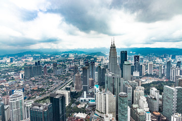 Photo Stands Kuala Lumpur Cityscape of Kuala Lumpur Malaysia with towers and high rise buildings