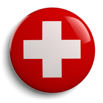 Cross Red Symbol First Aid Medical Sign