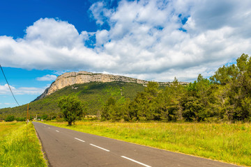 The peak Saint-Loup in the Hérault in Occitania, France