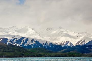 Van Lake and Artos Mountain view from Akdamar Island, Van, Turkey