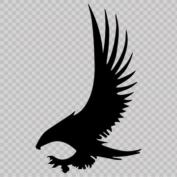 Eagle icon on transparent background. Vector