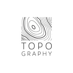 Logo Design Concept about Topography Business