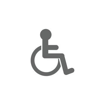 disable wheelchair icon vector design symbol