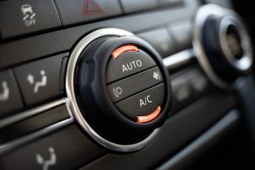 Modern car air conditioning panel