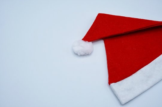 A snata claus hat on the white background