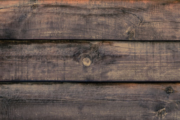 Shabby wooden desk surface. Natural color. Brown wood striped texture. Weathered planks, background. Antique fence, oak boards. Plank - timber.