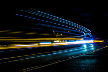 Papiers peints Autoroute nuit lights of cars with night