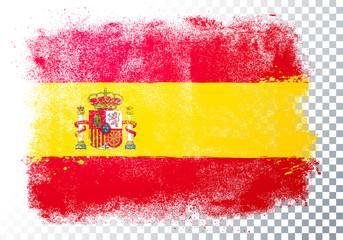 Vector Illustration Distressed Grunge Flag Of Spain.