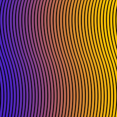 Multicolor gradient abstract background with waves. Print. Twisted vibrant stripes optical illusion. Warped lines colorful backdrop.
