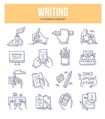 Writing Doodle Icons