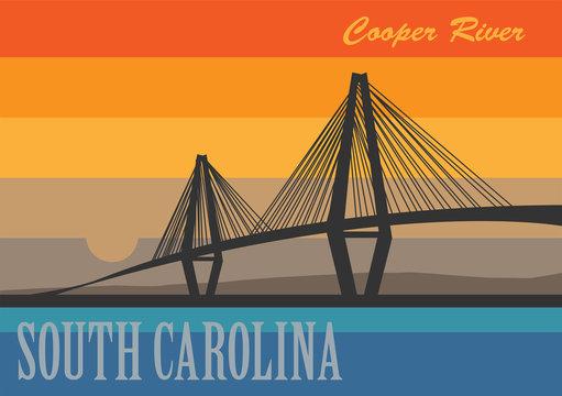 Cooper River Bridge in South Carolina