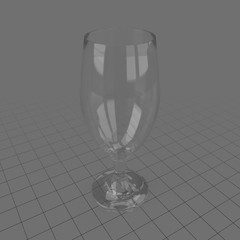 Empty snifter glass