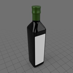 Olive oil bottle with label
