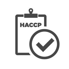 Fototapeta HACCP and checkmark icon. Vector