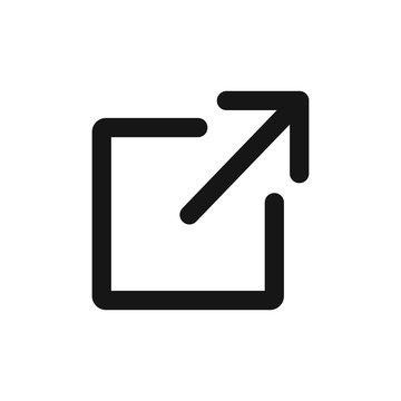 Logout or exit icon vector