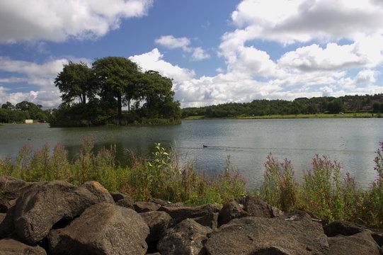 The Loch in the James Hamilton Heritage Park in East Kilbride, Scotland.