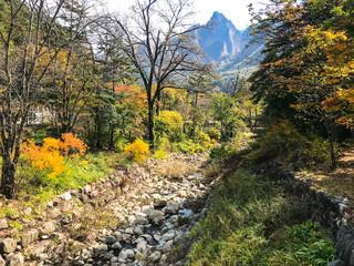 dried mountain river in Seoraksan National Park