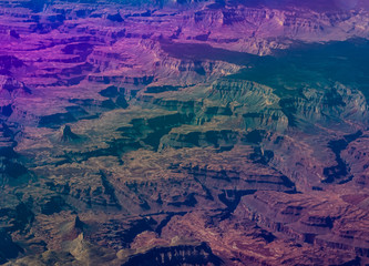 Canvas Prints Violet Aerial view of the Grand Canyon.