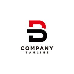 Obraz B and D logo template vector - fototapety do salonu