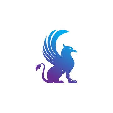 Griffin logo template vector