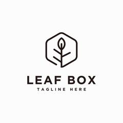 Leaf box logo design inspiration - vector