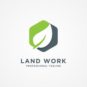 Landscape company logo template