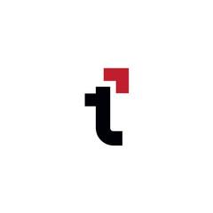 Fototapeta Letter t arrow logo obraz