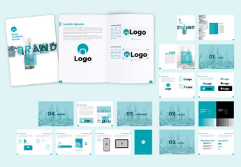 Teal and White Style Guide Layout