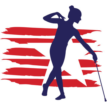 Baton Twirling   flag, American Flag, Fourth of July, 4th of July, Patriotic, Cricut Silhouette Cut File, Cutting file