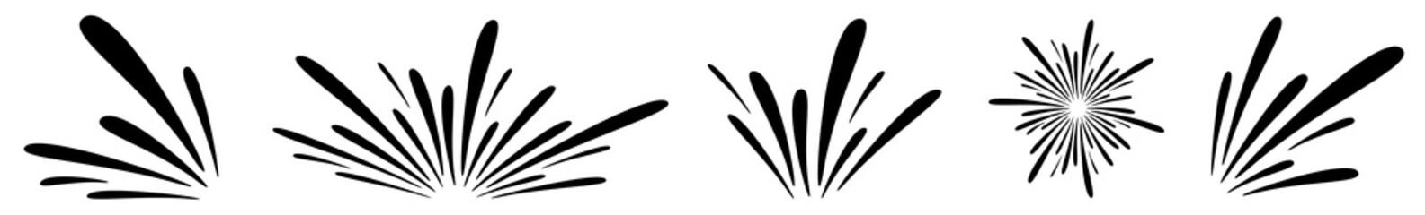 Water Splash Icon Black   Splashes   Droplets Symbol   Splashing Logo   Liquid Motion Sign   Isolated   Variations Fototapete